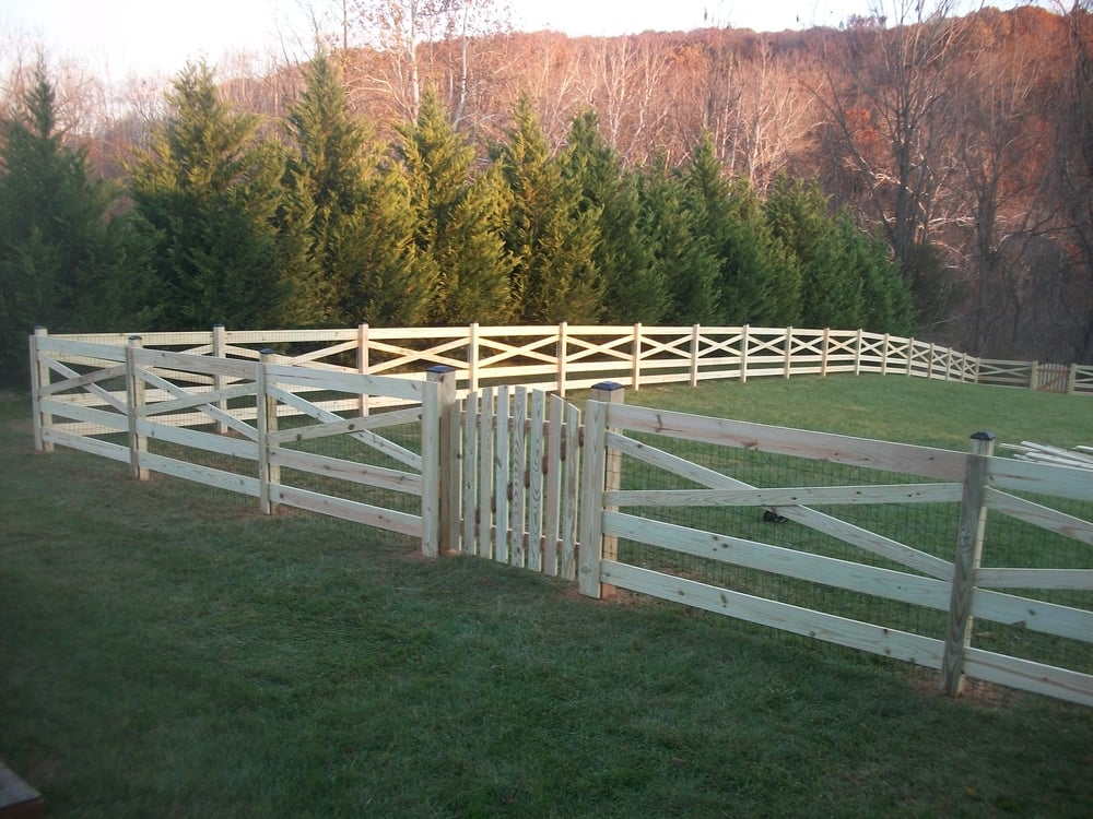 Wood Farm Fence Installed In Nashville TN