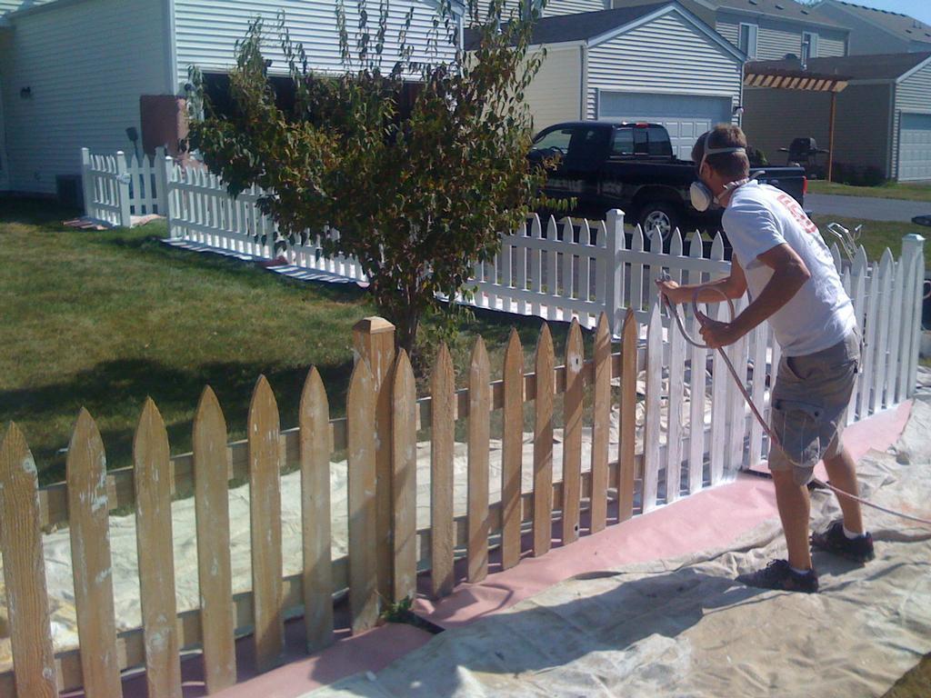 White Wood Fence How Long Should I Wait Before Staining My New Wood