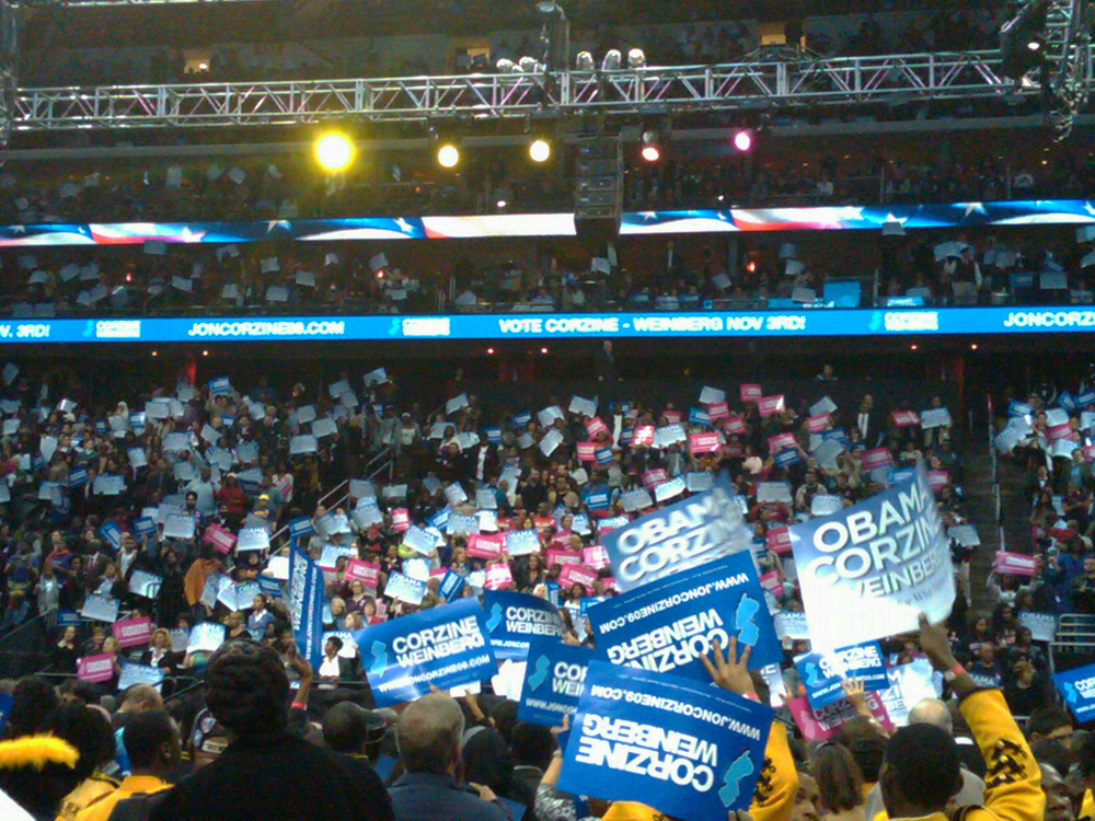 Obama Corzine Rally Prudential Center NJ.jpg