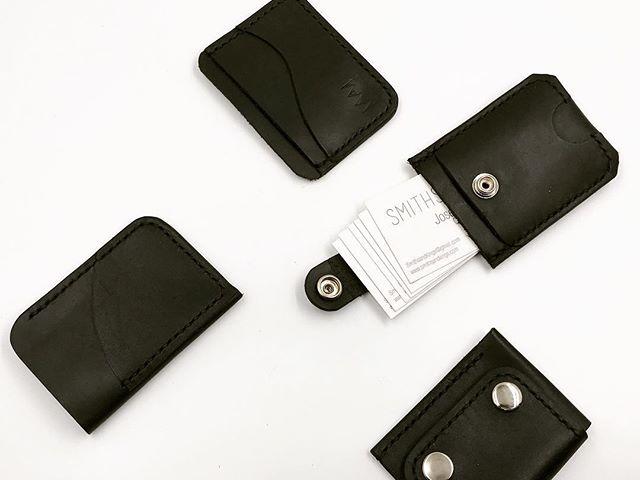 All Black Everything 🏴 #handmade #madeinla #leatherwallet #smithsandkings