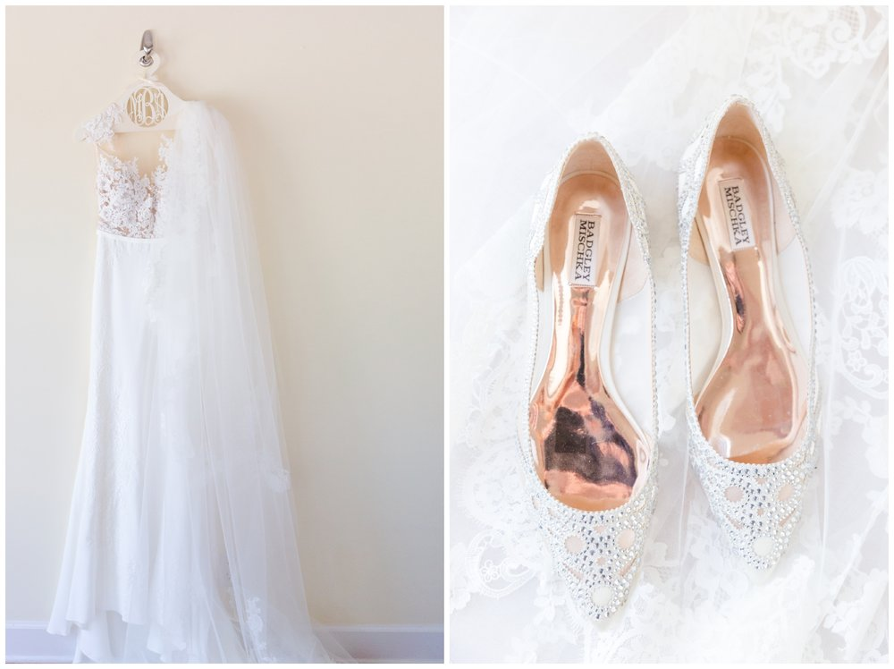 wedding shoes and Atelier Pronovias