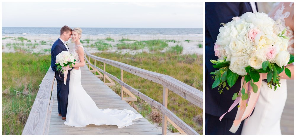 Fripp Island White and Blush Wedding
