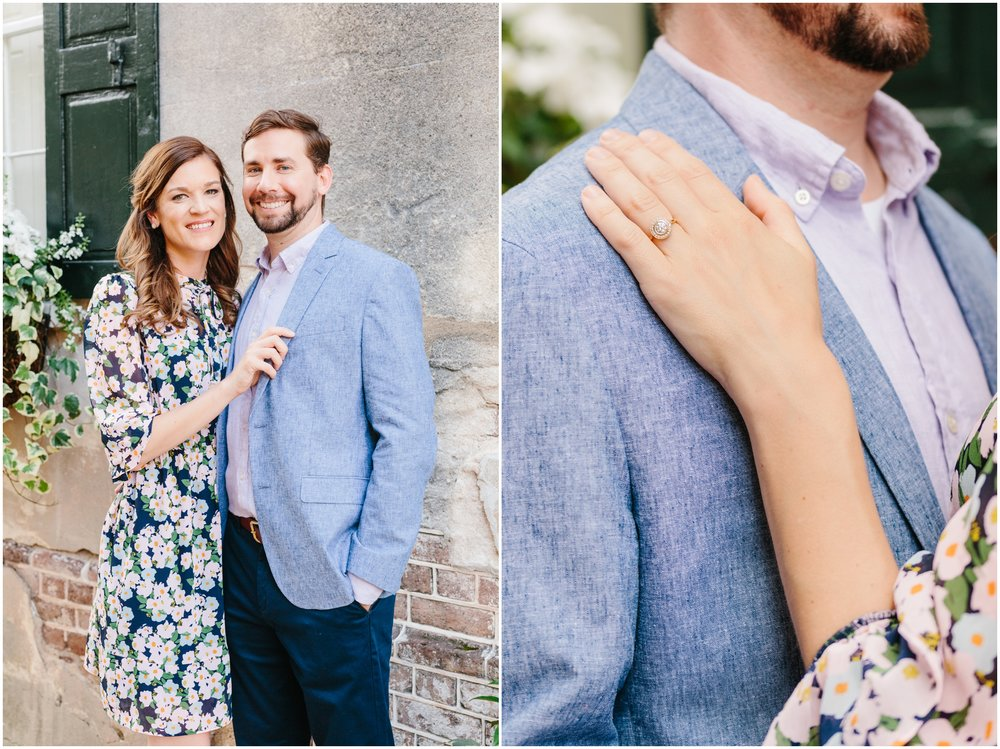downtown charleston engagement