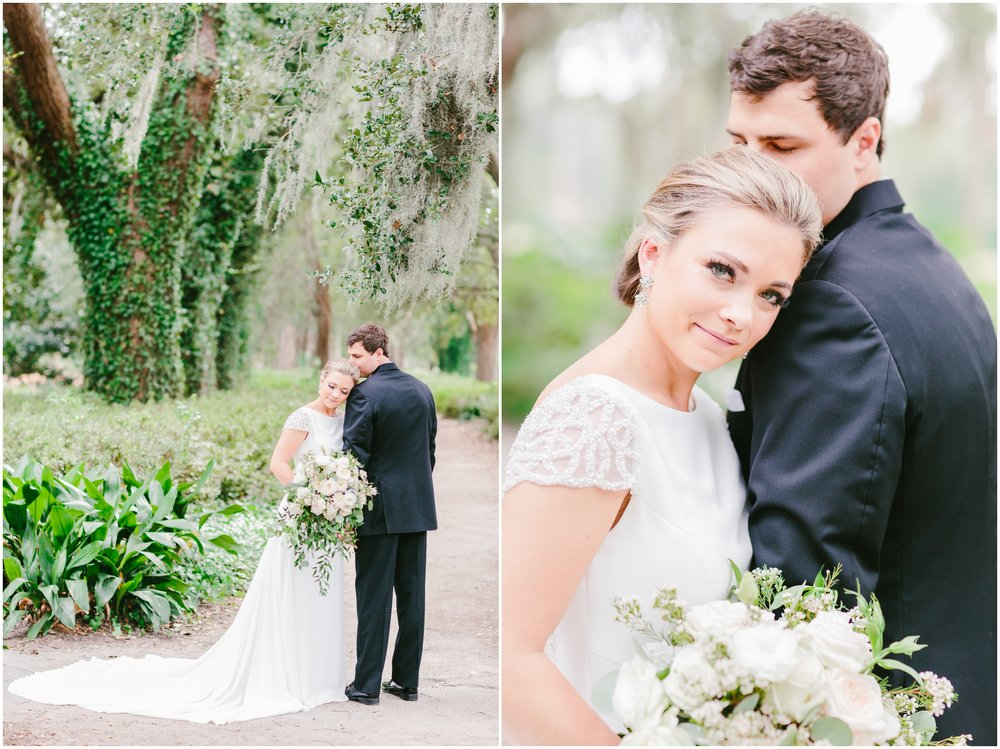 bride sharing a romantic moment with her groom