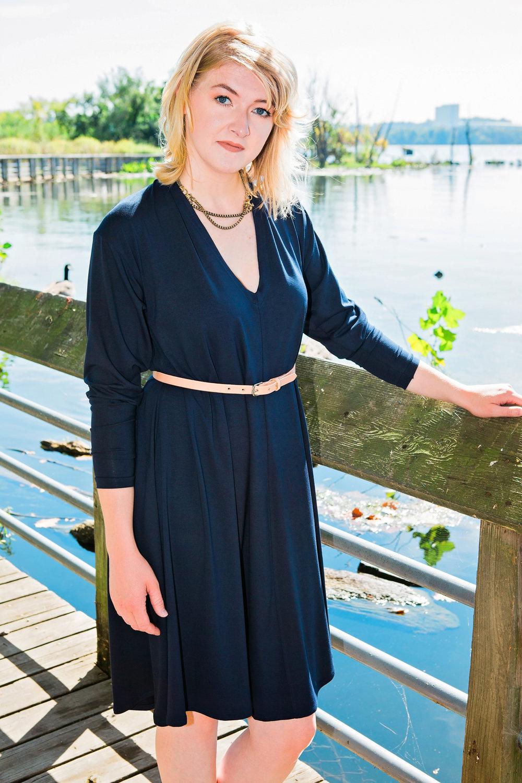 Eleanor Dress Navy