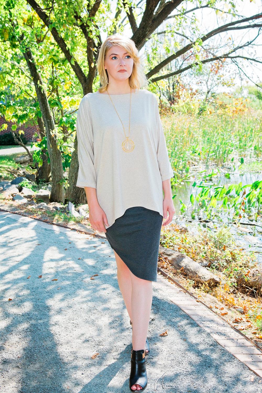 Tunic + Round Hem Skirt