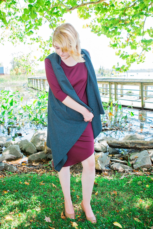 Round Hem Dress + Vest