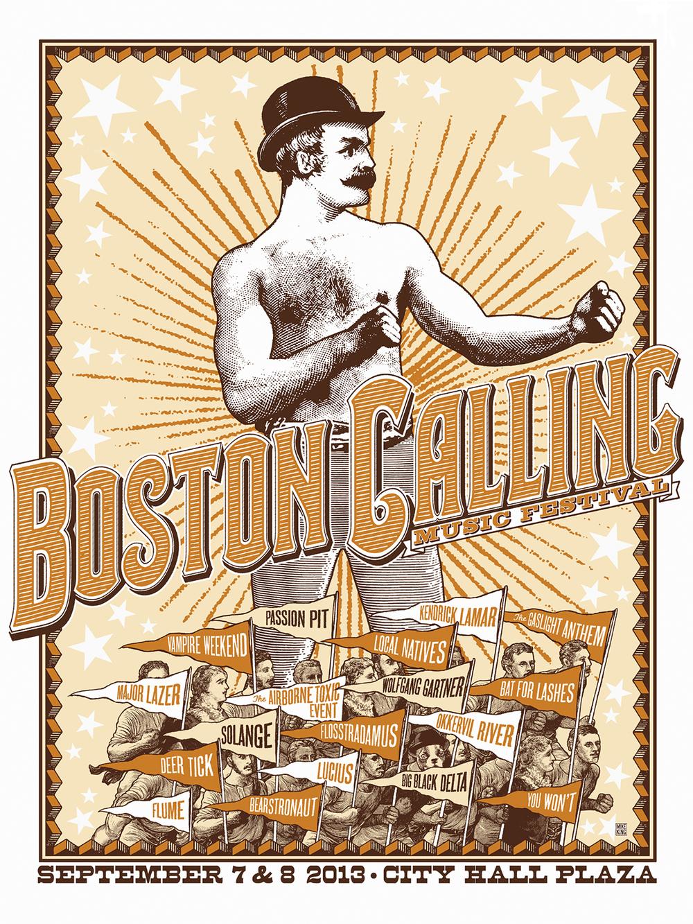 Boston Calling Festival Poster