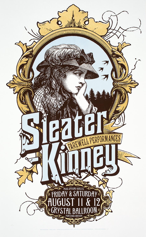 Sleater-Kinney Concert Poster