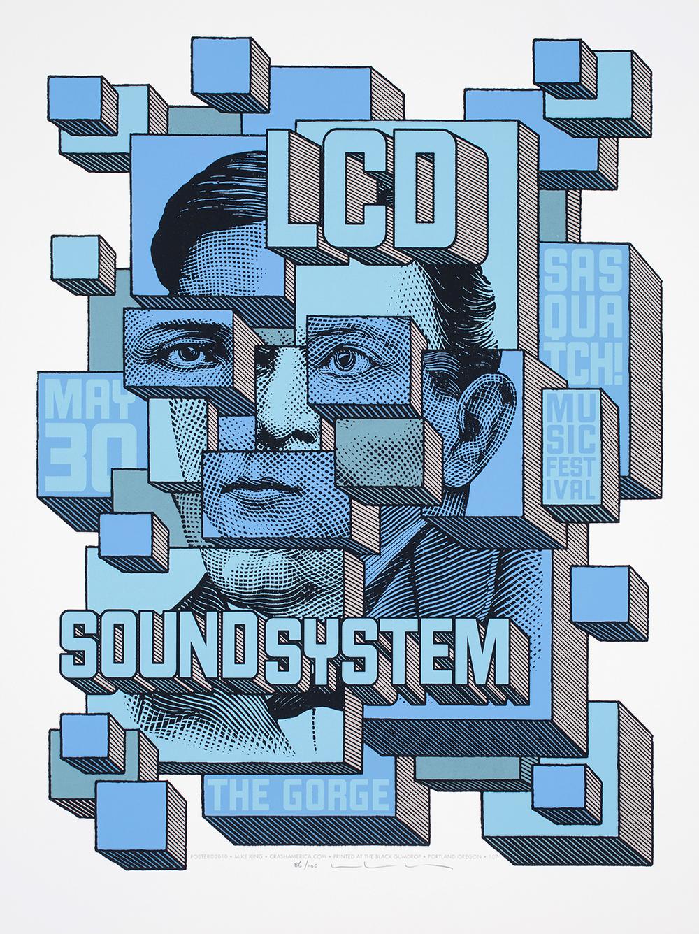 LCD Soundsystem Concert Poster