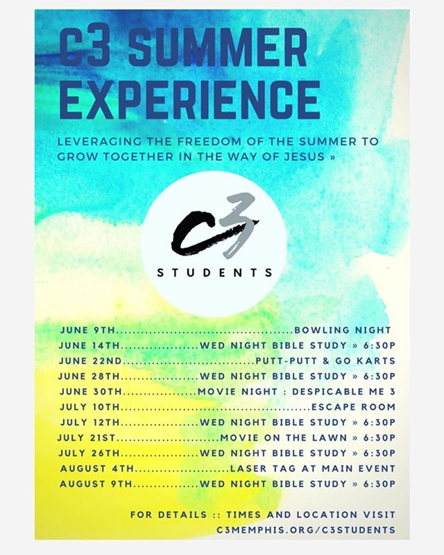 The plans are coming together! #c3students #church #c3summerexperience #youth #thewayofjesus