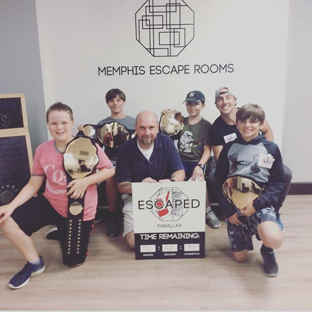 "Awesome night @memphisescaperooms // Team ""No Idea"" actually escaped the room! #parallax #escaperoom #youth #church #faith901 #c3memphis #c3summerexperience @soulpunk72 @rachaelbcantrell"