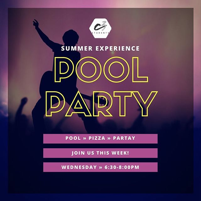 Looking forward to another epic week tomorrow night! Hope you'll join us for the fun! For more details email: info@c3memphis.org #c3memphis #c3summerexperience #faith901 #youth #c3students