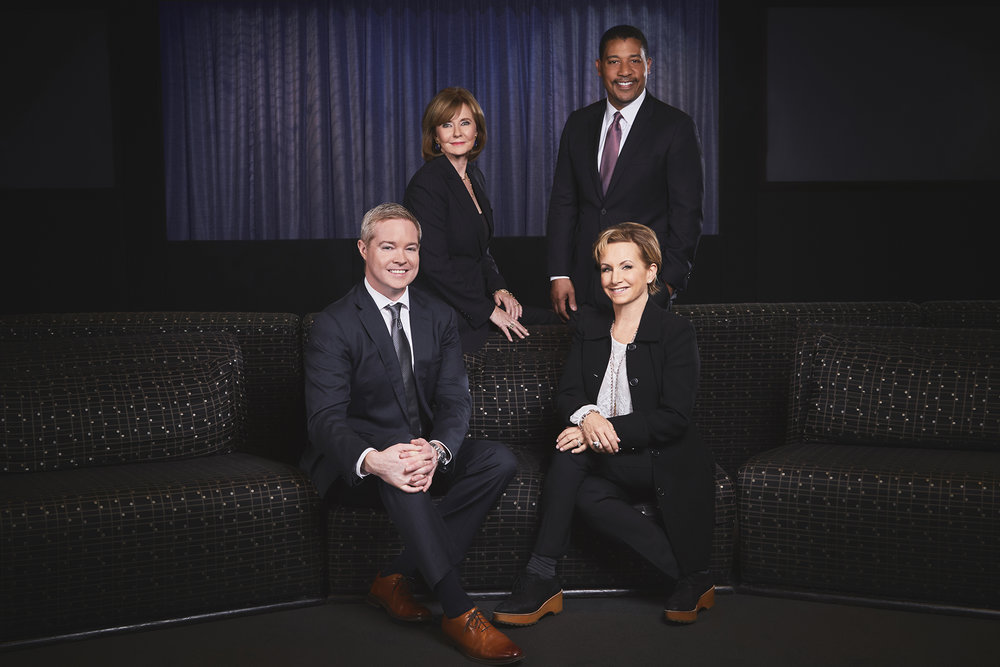 Martha Henderson, EVP and Head of Entertainment Banking, City National Bank (top left) David White, National Executive Director, SAG-AFTRA (top right) Gabrielle Carteris, President, SAG-AFTRA (bottom right) Mike Hurst, CEO and Co-Founder, Exactuals (bottom left)