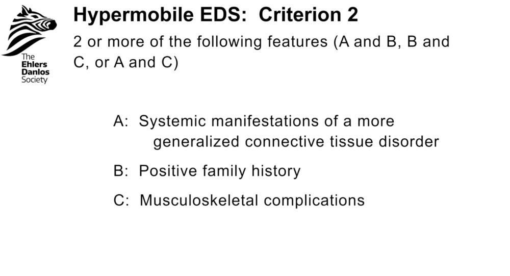 hEDS: Criterion 2