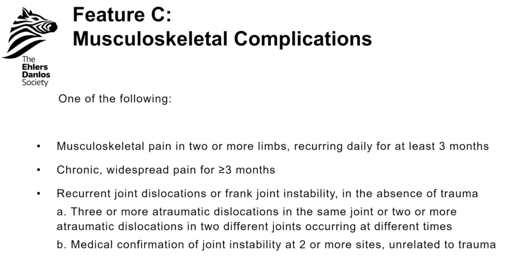 Feature C: Musculoskeletal Complications