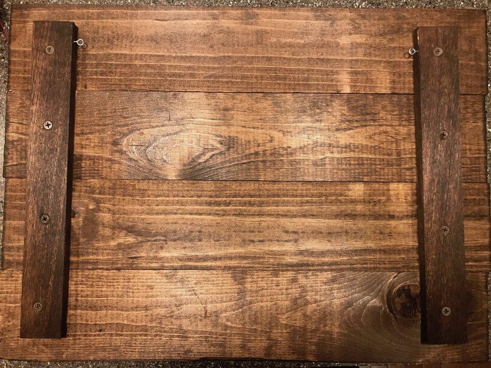 Peonies & Cream - Wood Sign Eye Screws