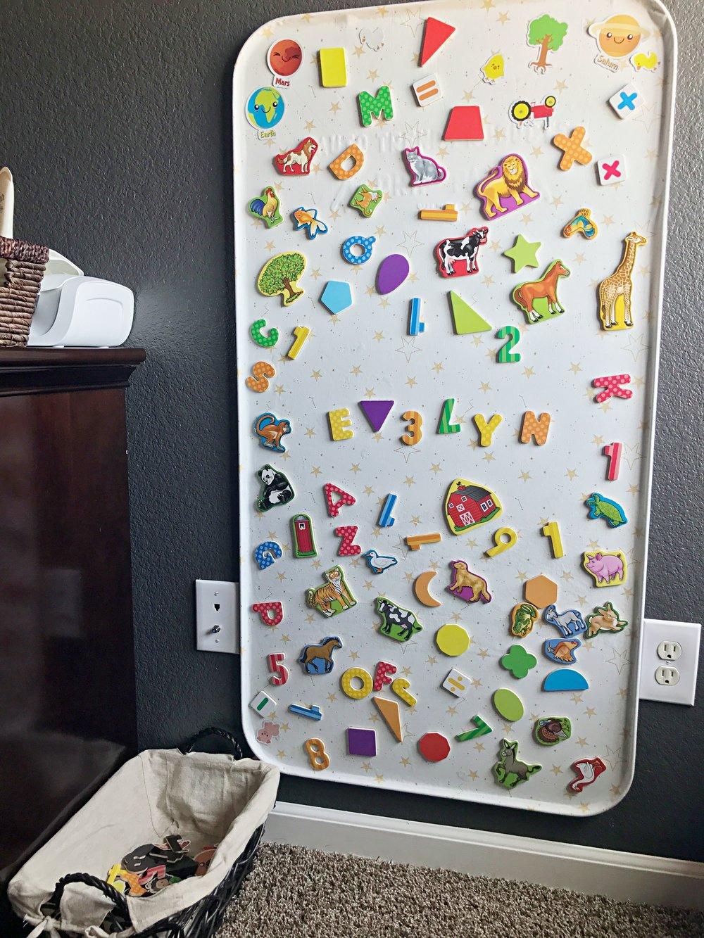 Harry Potter Toddler Room - Magnet Board