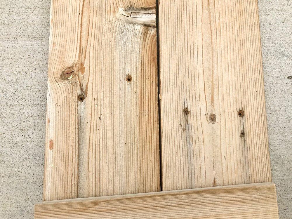 Peonies and Cream - DIY HELLO fence sign screw holes