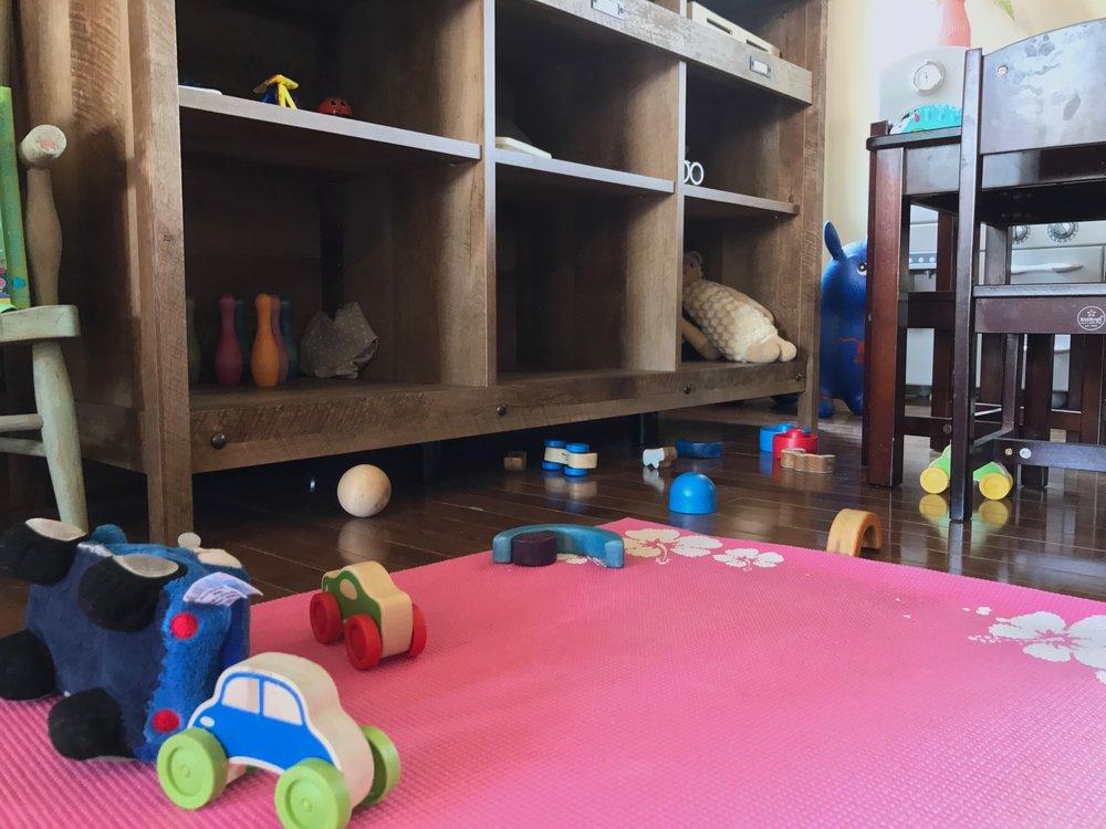 Peonies and Cream - Montessori Inspired Play Area