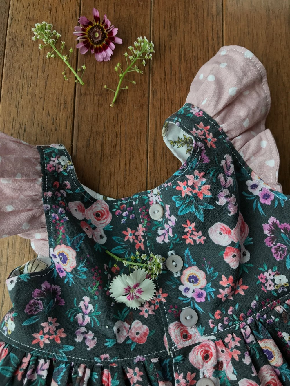 Peonies and Cream - Violette Field Threads Pearl Dress