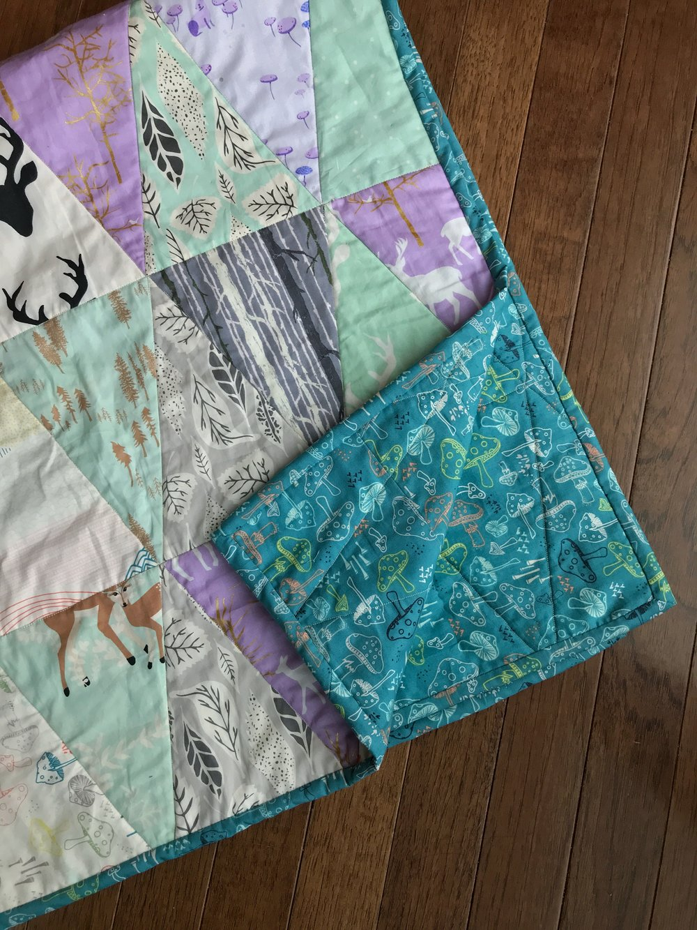 My First Quilt - Evelyn's Triangle Quilt