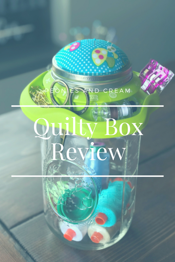 Peonies and Cream - Quilty Box Review
