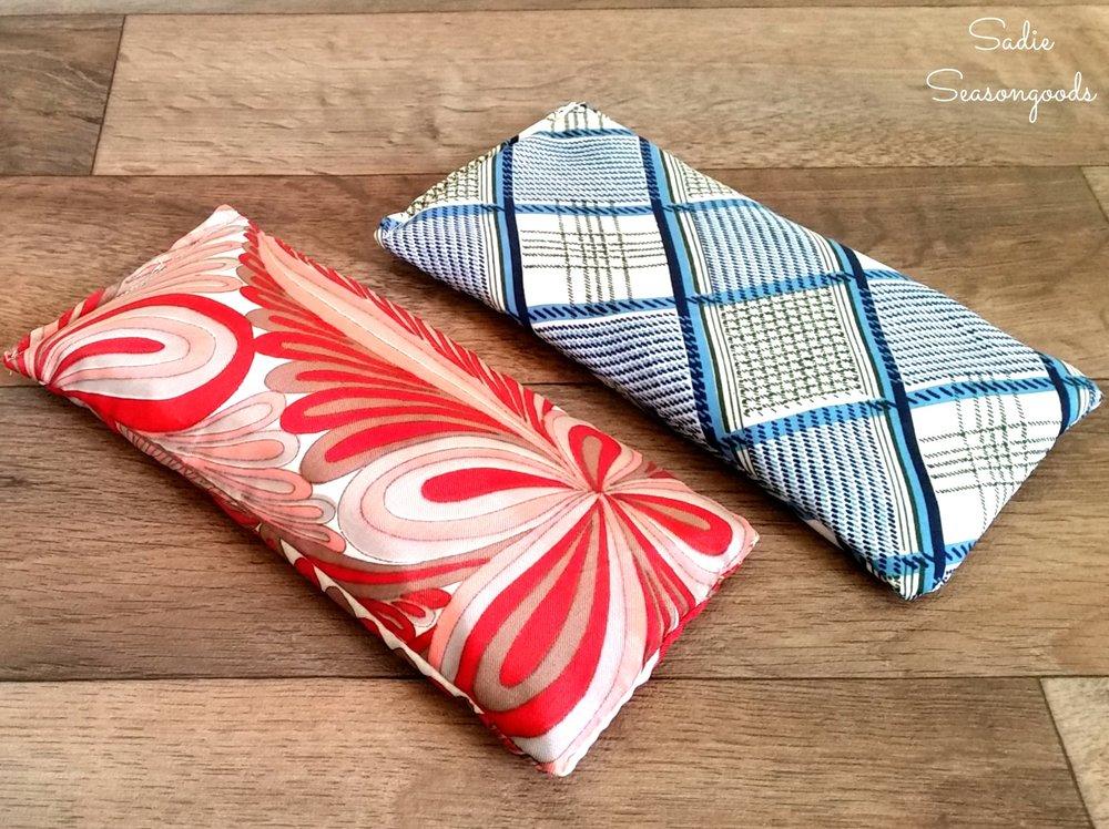 Sadie Seasongoods silk tie eye sachet on Peonies and Cream - DIY gifts