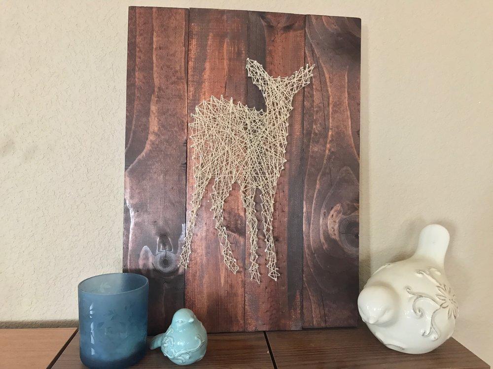 DIY String Art on Peonies and Cream - DIY Gift ideas