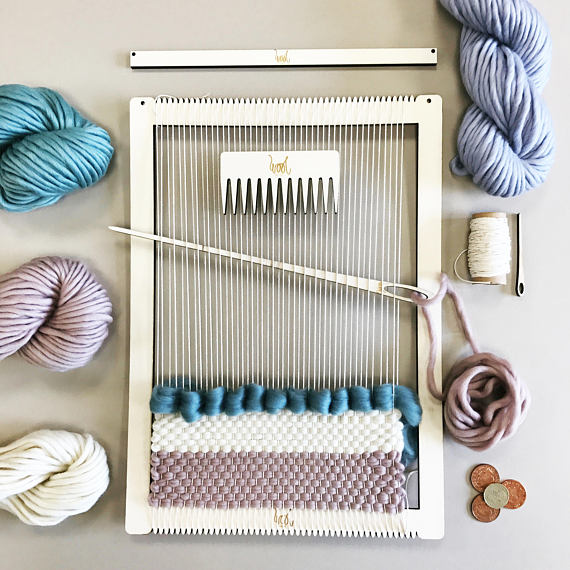 Wool Couture Company Weaving Kit - Peonies and Cream - Shop Handmade for Christmas