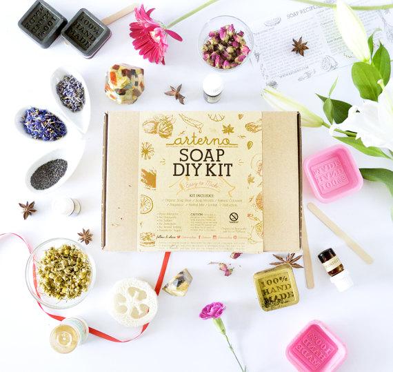 Arterno Organic Soap Making Kit - Peonies and Cream - Shop Handmade for Christmas