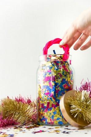 Confetti Surprise Jar from Studio DIY - Peonies and Cream - Mason Jar Gift Ideas