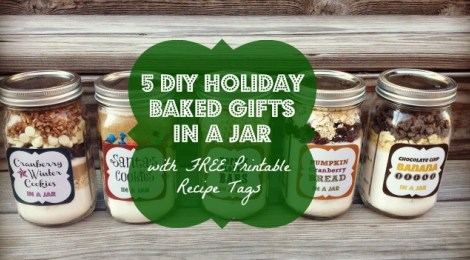 5 DIY Holiday Baked Gifts in a Jar from Culdesac Cool  - Peonies and Cream - Mason Jar Gift Ideas