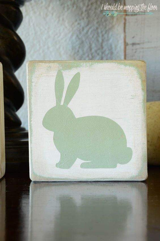 2x4 Bunny Blocks by I Should Be Mopping The Floor | on Peonies and Cream