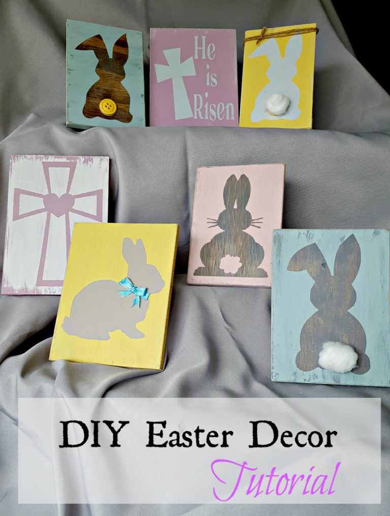 DIY Easter Decor Signs by Leap of Faith Crafting | on Peonies and Cream