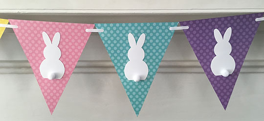 Paper Easter Bunny Banner by Clever Little Mouse | on Peonies and Cream