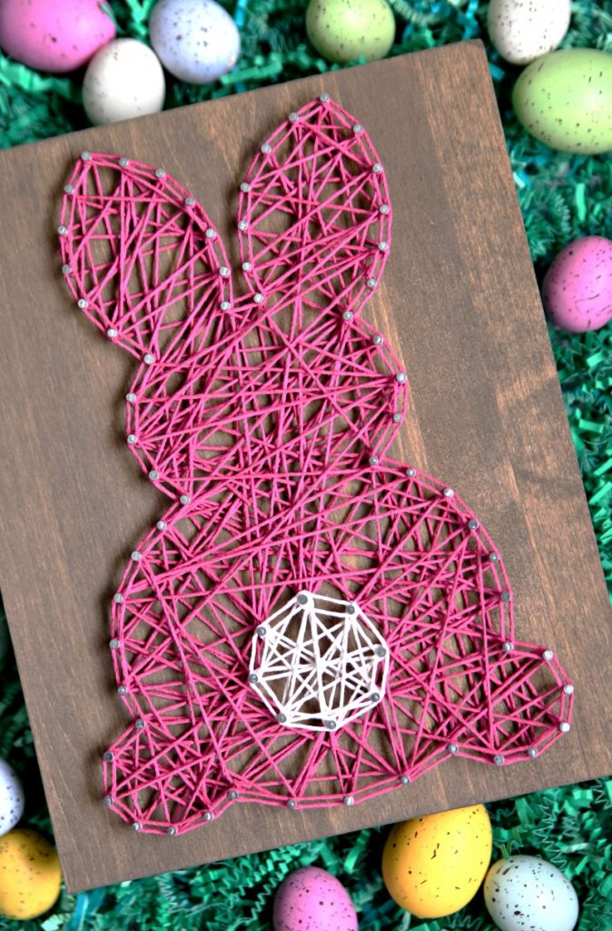 Easter Bunny String Art by Happy Go Lucky Blog | on Peonies and Cream