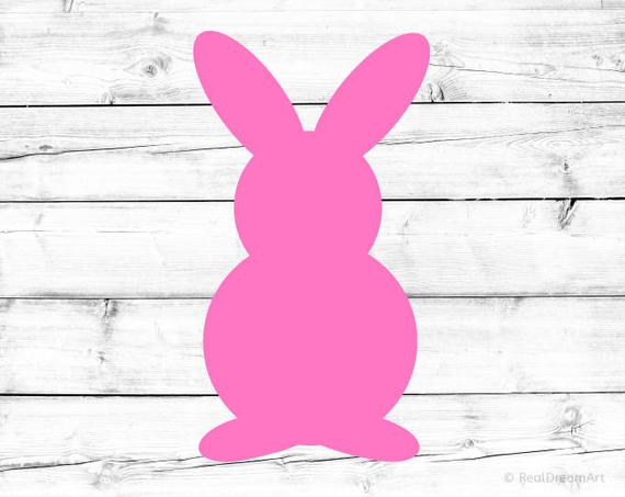 Bunny Silhouette from Easter Egg Hunts | on Peonies and Cream
