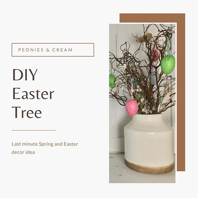Today's post is about making this last minute Easter Tree that can easily transition into Spring or any other season.⁣ ⁣ Easter trees bring back memories of Easters growing up at home, so I was so excited to finally make one of my own.⁣ ⁣ This can easily be put together in a manner of minutes, and offers opportunities to create your own ornaments for added memories!⁣ ⁣ Link is in the bio!🔗⁣ ⁣ #easter #eastertree #easterdecor #diyeaster ⁣ #peoniesandcream #Blogpost ⁣ #blog #bloglife #blogger⁣ #makersgonnamake #makersofinstagram #makersmovement ⁣ #diy #makeyourown #diyproject #letsdiy #doityourself #project #letsmake