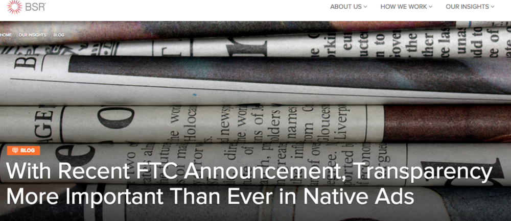 With Recent FTC Announcement, Transparency More Important Than Ever in Native Ads