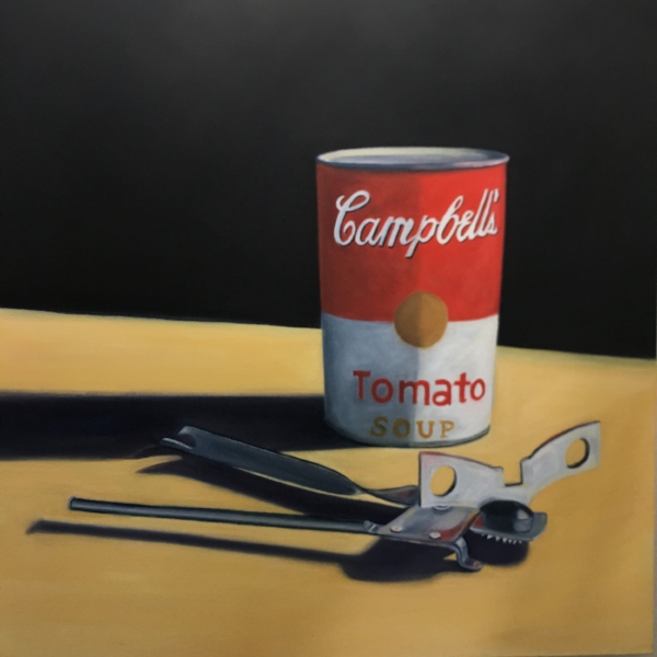 Andy's Can Opener 40x40 Oil on Canvas