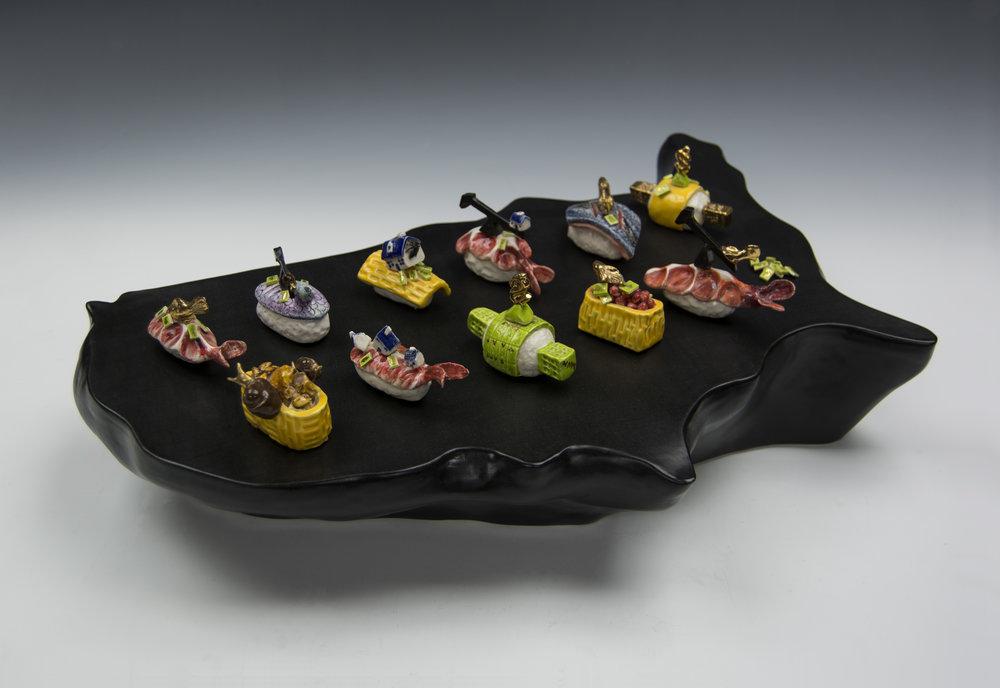 Joan Takayama Ogawa-Sushi, Americas's Fast Food, ceramic