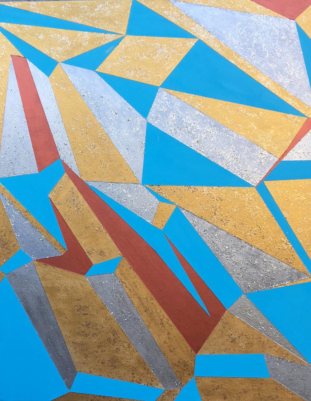 Hard-Edge 10-17-17 Acrylic on Canvas, 24x30