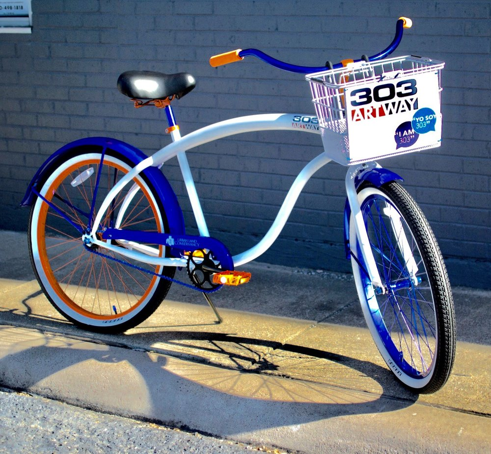 The 303 ArtWay Bike is a custom designed/custom built Cruiser Bike made by Villy Custom Bikes based in Dallas