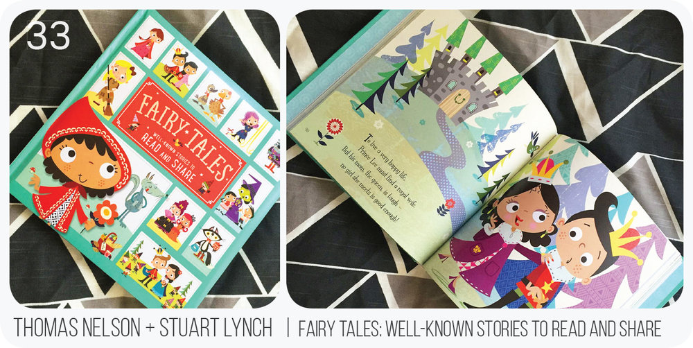 This book is very fun and re-tells several fairy tales in a completely quirky fashion. The illustrations have an eye-catching playful style and it is fairly easy to read for a beginning reader.