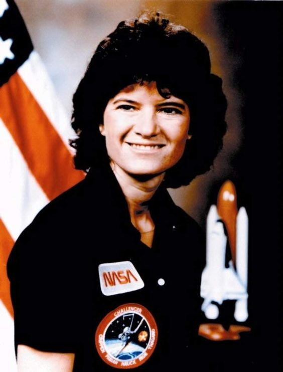 The ultimate SPACE BABE! (Sally Ride--  source )
