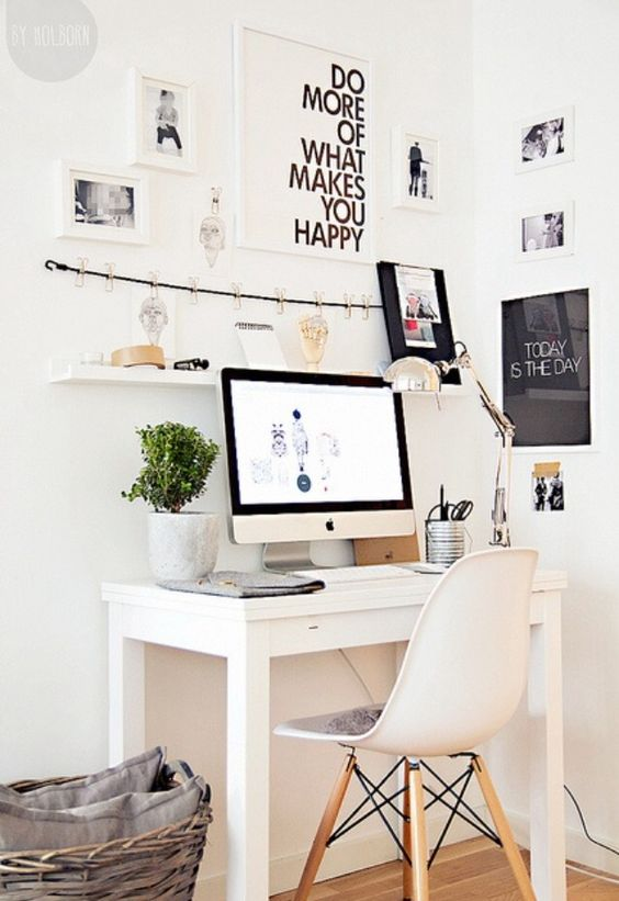 ( . ) A clean and compact workspace can ease distractions while promoting productivity.