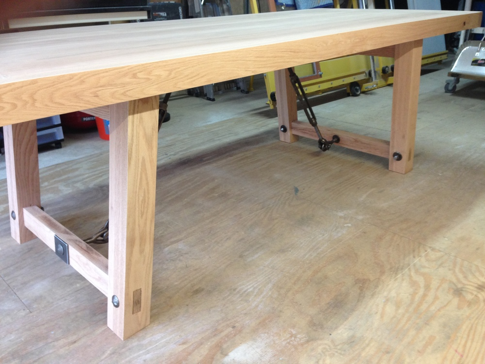 Industrial Farmhouse Table in construction