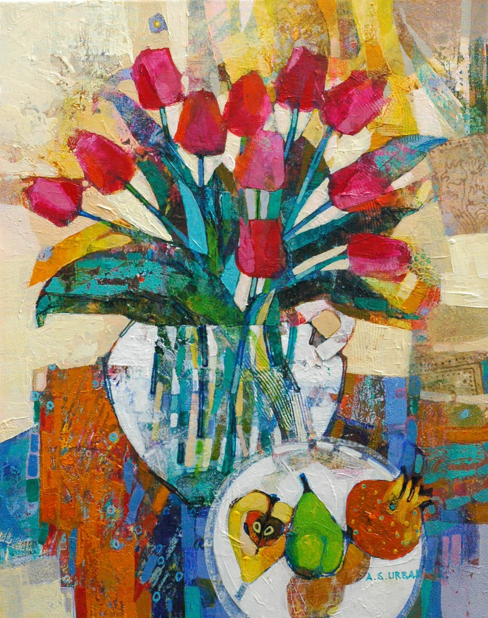 Still Life with  tulips      50 cm x 40 cm      available POA.jpg