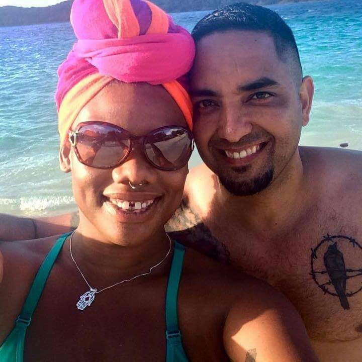 Chelcie and Roberto at Coki beach in St Thomas